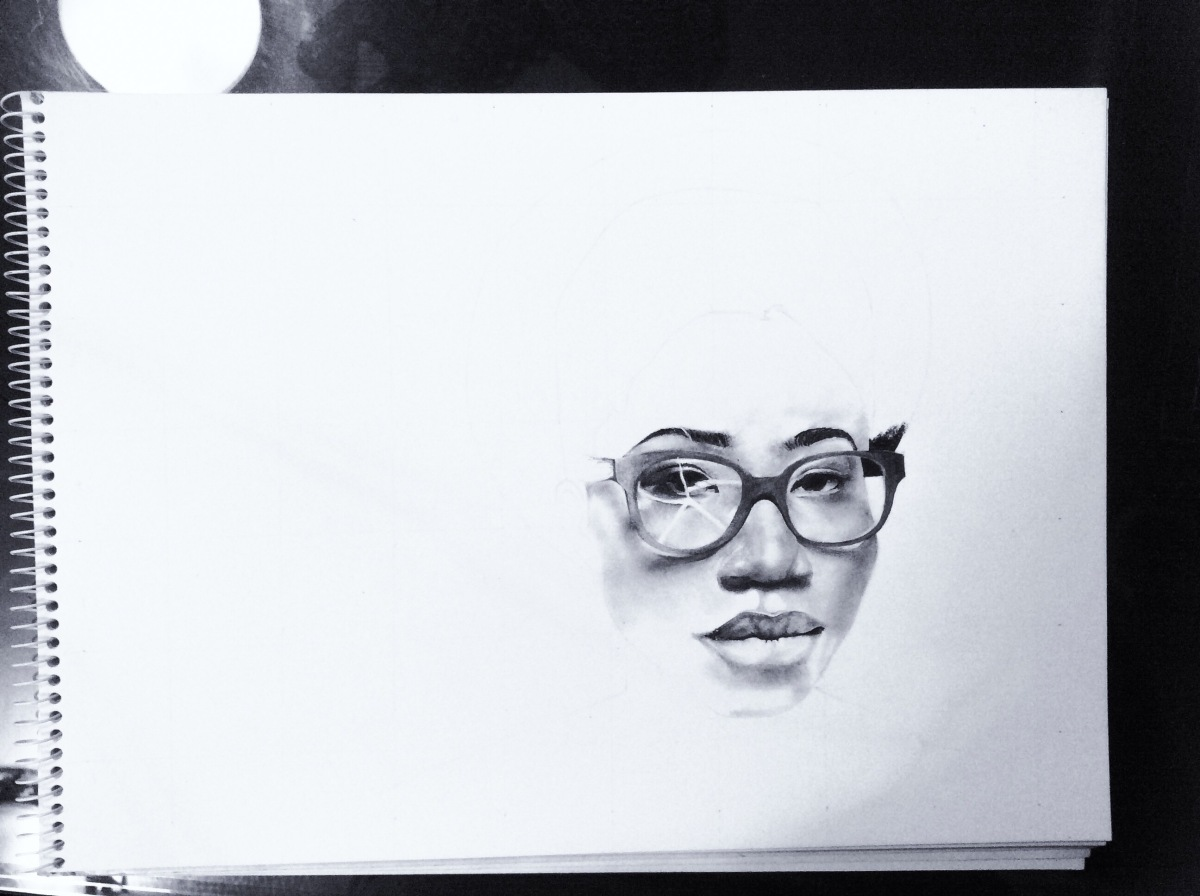 Art | Asa ( @asa_official ) charcoal drawing + pictures of each stage